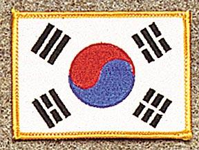 Korea Gold Border Patch
